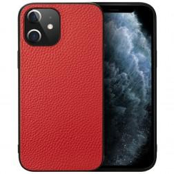 """Deluxe Leather"" ādas apvalks - sarkans (iPhone 12 Mini)"