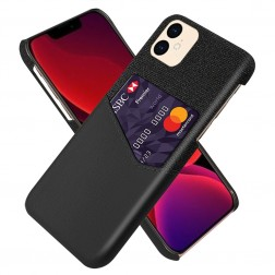 """KSQ"" Shell ādas apvalks - melns (iPhone 12 Mini)"