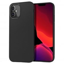 """""""Lenuo"""" cieta silikona (TPU) apvalks - melns (iPhone 12 Mini)"""
