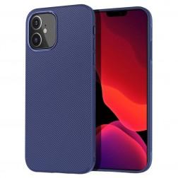 """Lenuo"" cieta silikona (TPU) apvalks - zils (iPhone 12 Mini)"