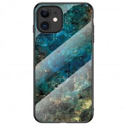 """Marble"" cieta silikona (TPU) apvalks - zils (iPhone 12 Mini)"