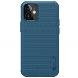 """Nillkin"" Frosted Shield Pro apvalks - zils (iPhone 12 Mini)"