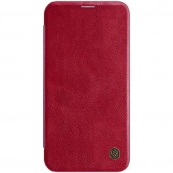"""""""Nillkin"""" Qin atvēramais maciņš - sarkans (iPhone 12 Mini)"""