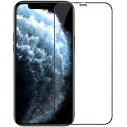 """""""Nillkin"""" CP 9H Tempered Glass ekrāna aizsargstikls 0.33 mm - melns (iPhone 12 Mini)"""