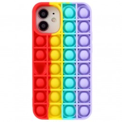 """Popit"" Bubble mīksta silikona (TPU) apvalks - sarkans (iPhone 12 Mini)"