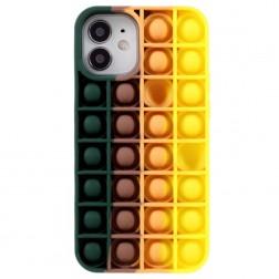 """""""Popit"""" Bubble mīksta silikona (TPU) apvalks - tumši zaļš (iPhone 12 Mini)"""