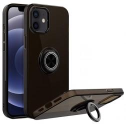 """""""Sheet"""" Kickstand (TPU) apvalks - melns (iPhone 12 Mini)"""