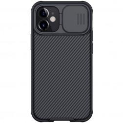 """Nillkin"" CamShield apvalks - melns (iPhone 12 / 12 Pro)"