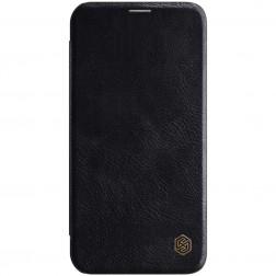 """Nillkin"" Qin atvēramais maciņš - melns (iPhone 12 / 12 Pro)"