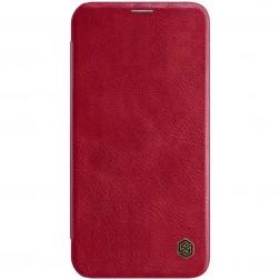 """""""Nillkin"""" Qin atvēramais maciņš - sarkans (iPhone 12 / 12 Pro)"""
