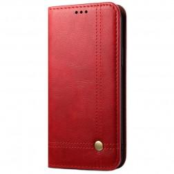 """""""Deluxe"""" atvēramais maciņš - sarkans (iPhone 12 / 12 Pro)"""