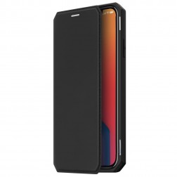 """Dux Ducis"" Skin X atvērams maciņš - melns (iPhone 12 / 12 Pro)"