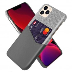 """KSQ"" Shell ādas apvalks - pelēks (iPhone 12 / 12 Pro)"