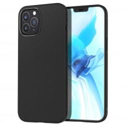 """""""Lenuo"""" cieta silikona (TPU) apvalks - melns (iPhone 12 / 12 Pro)"""