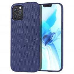 """Lenuo"" cieta silikona (TPU) apvalks - zils (iPhone 12 / 12 Pro)"