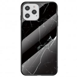 """Marble"" cieta silikona (TPU) apvalks - melns (iPhone 12 / 12 Pro)"