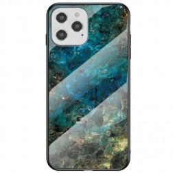 """Marble"" cieta silikona (TPU) apvalks - zils (iPhone 12 / 12 Pro)"