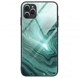 """Marble"" Skin cieta silikona (TPU) apvalks - zaļš (iPhone 12 / 12 Pro)"