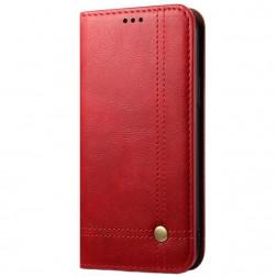 """""""Deluxe"""" atvēramais maciņš - sarkans (iPhone 12 Pro Max)"""