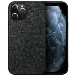 """Deluxe Leather"" ādas apvalks - melns (iPhone 12 Pro Max)"