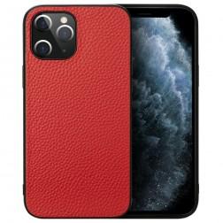 """Deluxe Leather"" ādas apvalks - sarkans (iPhone 12 Pro Max)"