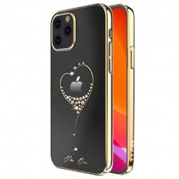"""Kingxbar"" Love Swarovski apvalks - zelta (iPhone 12 Pro Max)"