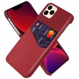 """KSQ"" Shell ādas apvalks - sarkans (iPhone 12 Pro Max)"