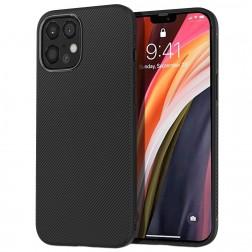 """""""Lenuo"""" cieta silikona (TPU) apvalks - melns (iPhone 12 Pro Max)"""