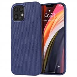 """Lenuo"" cieta silikona (TPU) apvalks - zils (iPhone 12 Pro Max)"