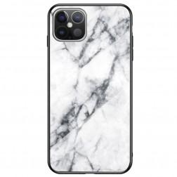 """Marble"" cieta silikona (TPU) apvalks - balts (iPhone 12 Pro Max)"