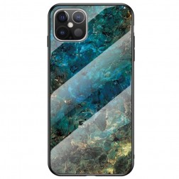 """Marble"" cieta silikona (TPU) apvalks - zils (iPhone 12 Pro Max)"