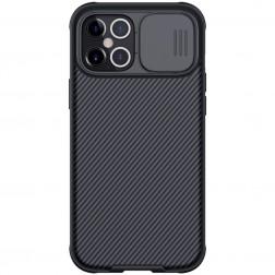 """""""Nillkin"""" CamShield apvalks - melns (iPhone 12 Pro Max)"""