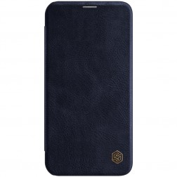 """""""Nillkin"""" Qin atvēramais maciņš - tumši zils (iPhone 12 Pro Max)"""