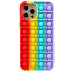 """Popit"" Bubble mīksta silikona (TPU) apvalks - sarkans (iPhone 12 Pro Max)"