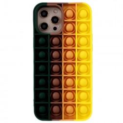 """""""Popit"""" Bubble mīksta silikona (TPU) apvalks - tumši zaļš (iPhone 12 Pro Max)"""