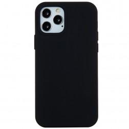 Cieta silikona (TPU) apvalks - melns (iPhone 12 Pro Max)
