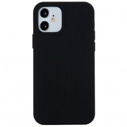 Cieta silikona (TPU) apvalks - melns (iPhone 12 Mini)
