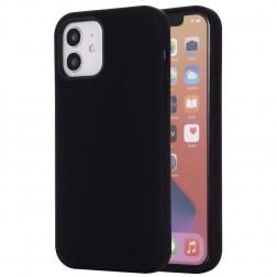 """""""Shell"""" MagSafe cieta silikona (TPU) apvalks - melns (iPhone 12 Mini)"""