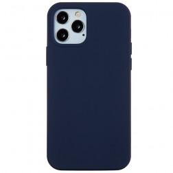 Cieta silikona (TPU) apvalks - tumši zils (iPhone 12 Pro Max)