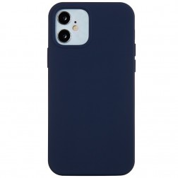Cieta silikona (TPU) apvalks - zils (iPhone 12 Mini)