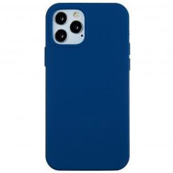 Cieta silikona (TPU) apvalks - zils (iPhone 12 Pro Max)