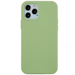 Cieta silikona (TPU) apvalks - zaļš (iPhone 12 Pro Max)