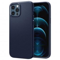 """Spigen"" Liquid Air apvalks - zils (iPhone 12 Pro Max)"