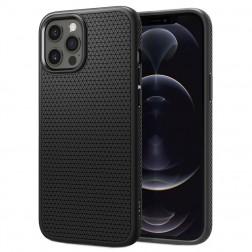 """Spigen"" Liquid Air apvalks - melns (iPhone 12 Pro Max)"