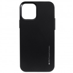 """""""Mercury"""" apvalks - melns (iPhone 12 / 12 Pro)"""