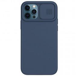 """Nillkin"" CamShield MagSafe apvalks - tumši zils (iPhone 12 / 12 Pro)"
