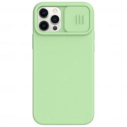 """Nillkin"" CamShield MagSafe apvalks - zaļš (iPhone 12 / 12 Pro)"