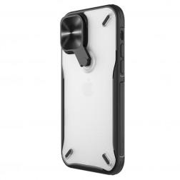 """""""Nillkin"""" CamShield Kickstand apvalks - dzidrs (iPhone 12 / 12 Pro)"""