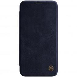 """Nillkin"" Qin atvēramais maciņš - tumši zils (iPhone 12 / 12 Pro)"