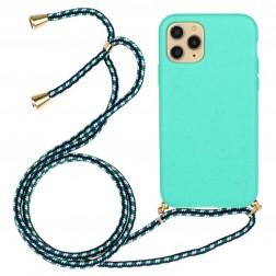 """Strap"" cieta silikona (TPU) apvalks - piparmētru (iPhone 12 / 12 Pro)"